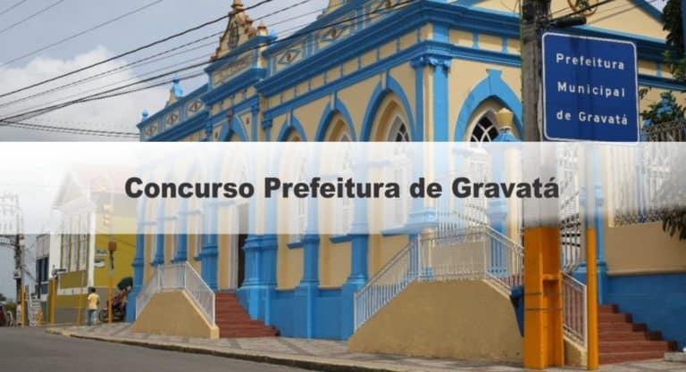 Concurso Prefeitura de Gravatá PE: Inscrições encerradas