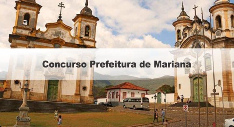 Concurso Prefeitura de Mariana MG: Inscrições Encerradas