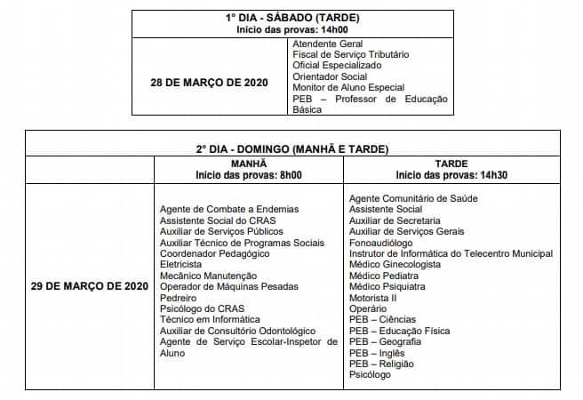 PROVAS  - Concurso Prefeitura Cristiano Otoni (MG) 2020: Inscrições Encerradas