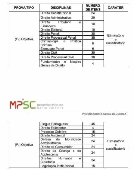 PROVAS MP - Concurso MP SC Promotor: Inscrições abertas! Remuneração de até R$ 28.883,98