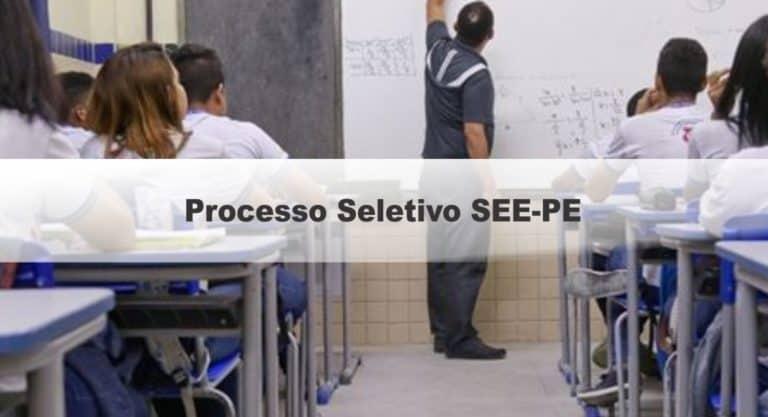 Processo Seletivo SEE-PE: Inscrições Encerradas