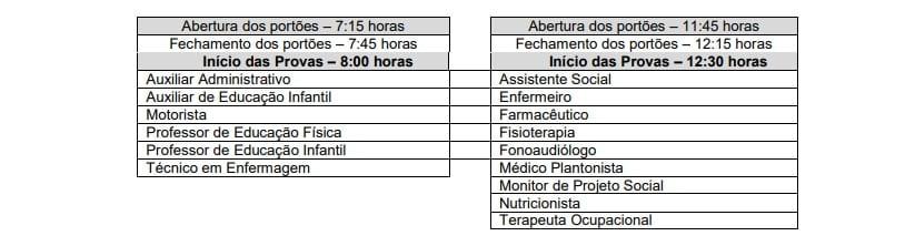 horário de provas - Concurso Prefeitura de Ribeira SP: Inscrições Encerradas