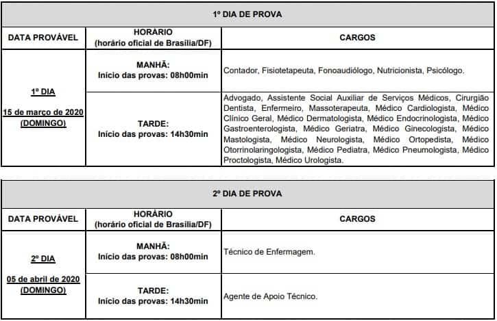 provas Concurso FUNASG RJ - Concurso FUNASG RJ: Provas dia 11/04/2021