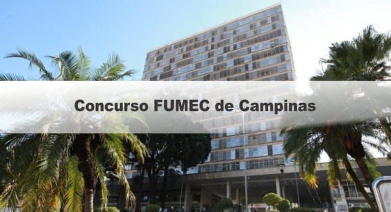 Concurso FUMEC Campinas SP: Inscrições Encerradas