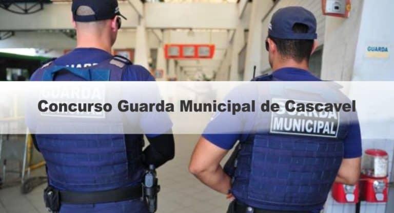 Concurso Guarda Municipal de Cascavel PR: Inscrições Abertas