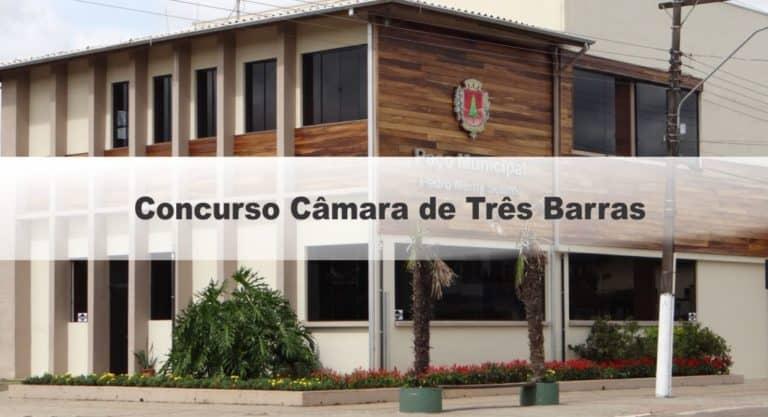Concurso Câmara de Três Barras SC:  Inscrições Encerradas