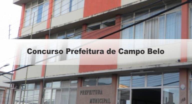 Concurso Prefeitura de Campo Belo MG: Inscrições abertas !