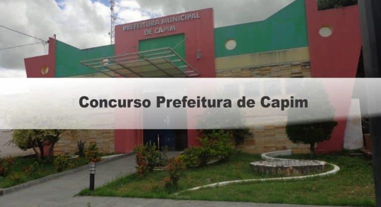 Concurso Prefeitura de Capim PB: Inscrições Encerradas !