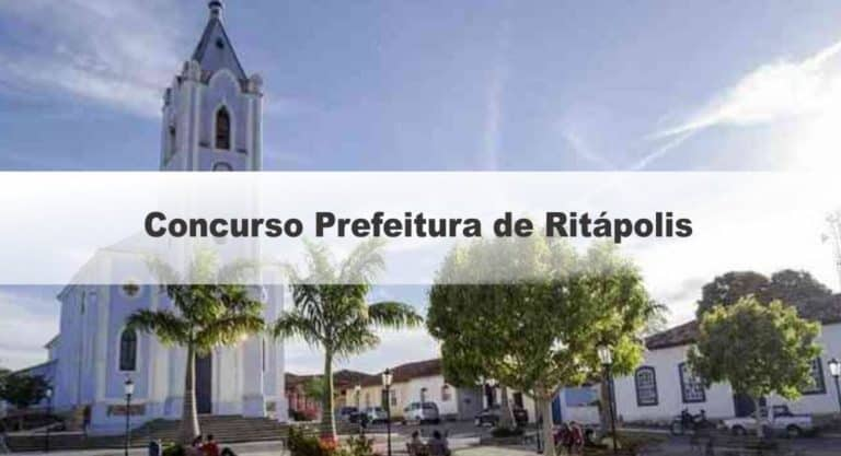 Concurso Prefeitura de Ritápolis MG: Provas dias 06 e 07/02/2021