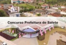 Concurso Prefeitura de Salete SC