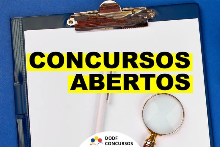 Lista de Concursos Abertos em todo o Brasil. Vagas para todos os níveis!