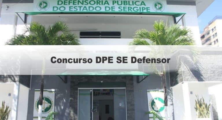 Concurso DPE SE Defensor: Cebraspe é a banca