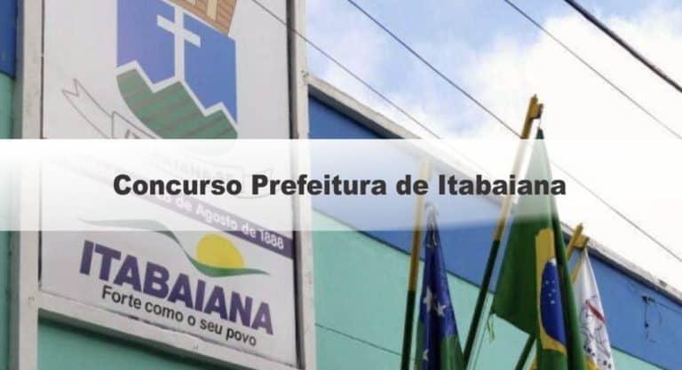 Concurso Prefeitura de Itabaiana SE: Inscrições encerradas