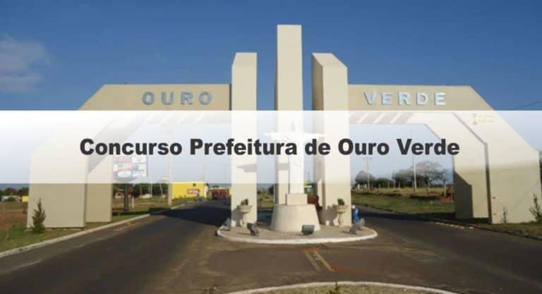 Concurso Prefeitura de Ouro Verde SP: Inscrições Encerradas