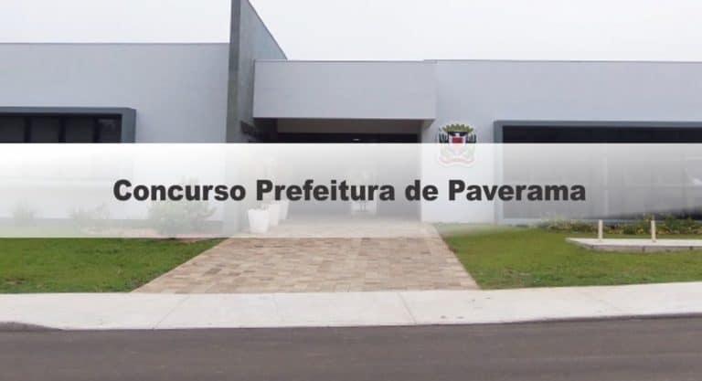 Concurso Prefeitura de Paverama RS: Inscrições Encerradas