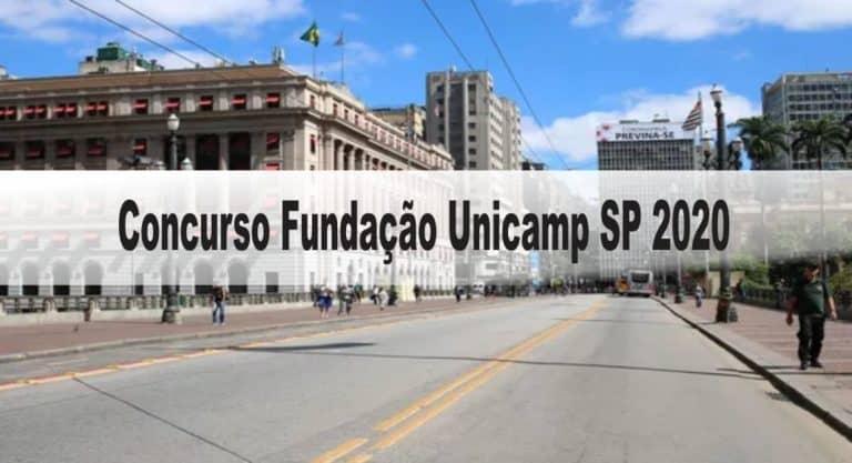 Concurso Fundação Unicamp SP 2020: Inscrições encerradas!