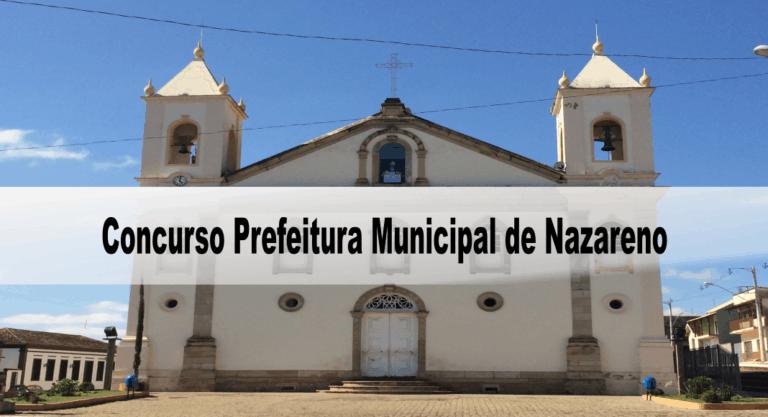 Concurso Prefeitura Municipal de Nazareno MG 2020
