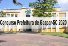 Concurso Prefeitura de Gaspar-SC 2020