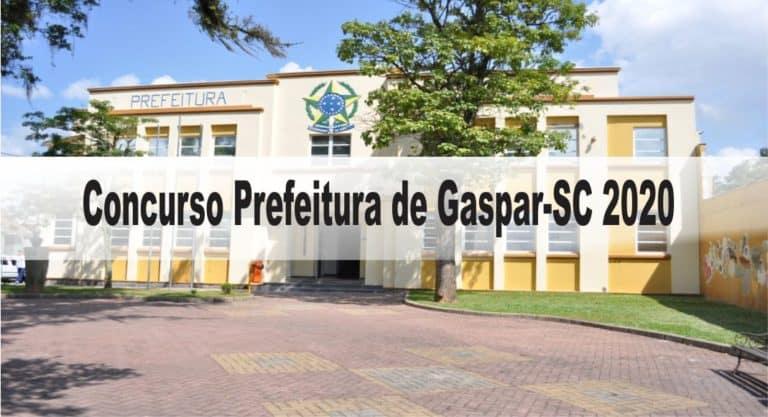 Concurso Prefeitura de Gaspar-SC 2020: Inscrições encerradas