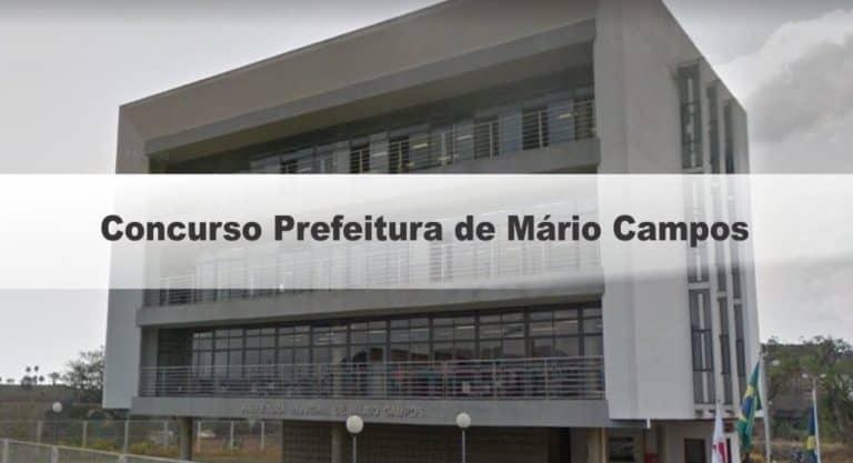 Concurso Prefeitura de Mário CAmpos (MG): Inscrições encerradas