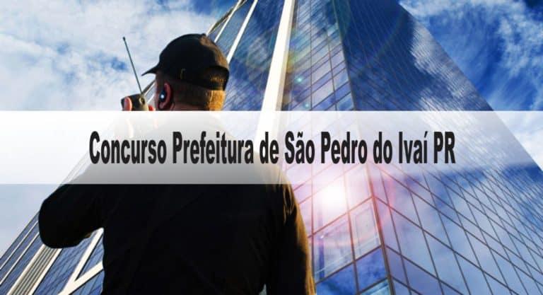 Concurso Prefeitura de São Pedro do Ivaí PR: Inscrições encerradas