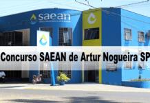 Concurso SAEAN de Artur Nogueira SP