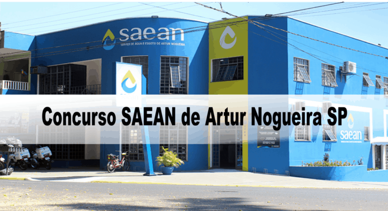 Concurso SAEAN de Artur Nogueira SP: Inscrições encerradas