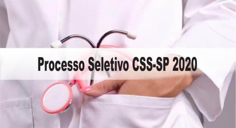 Processo Seletivo CSS-SP 2020: Inscrições encerradas