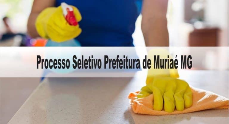 Processo Seletivo Prefeitura de Muriaé MG 2020: Inscrições encerradas!