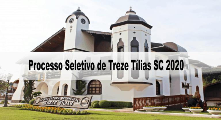 Processo Seletivo Prefeitura de Treze Tílias SC 2020: Inscrições encerradas!
