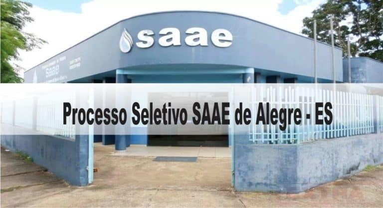 Processo Seletivo SAAE de Alegre – ES: Inscrições encerradas