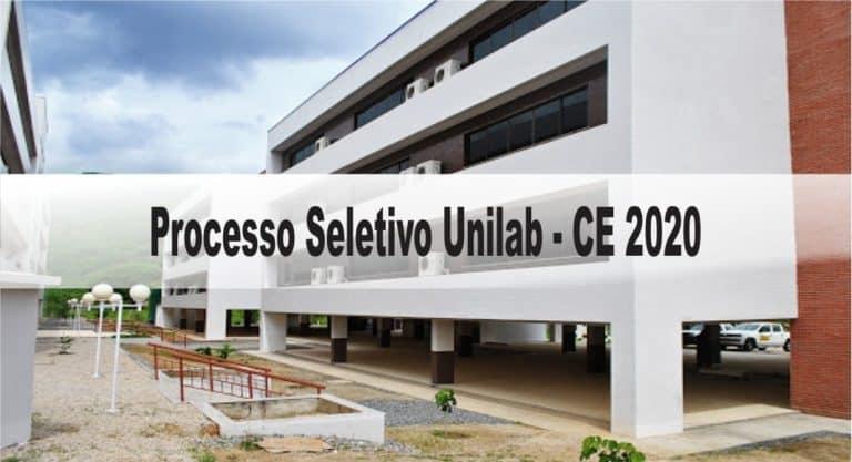 Processo Seletivo Unilab – CE 2020: Inscrições encerradas!