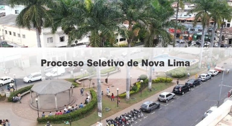 Processo Seletivo de Nova Lima – MG: Inscrições encerradas