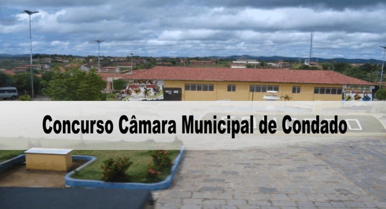 Concurso Câmara Municipal de Condado PE 2020: Inscrições PRORROGADAS