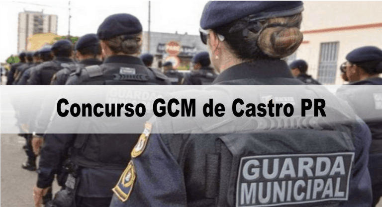 Concurso GCM de Castro PR: Suspenso temporariamente