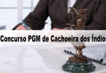 Concurso PGM de Cachoeira dos Índios PB