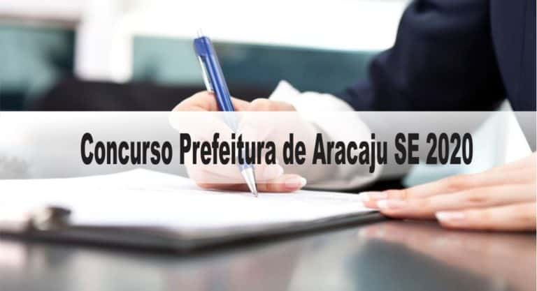 Concurso Prefeitura de Aracaju SE 2020: Provas previstas para dia 13/12/20