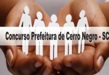 Concurso Prefeitura de Cerro Negro - SC 2020