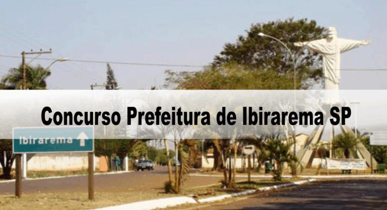 Concurso Prefeitura de Ibirarema SP: Inscrições abertas com 181 vagas!