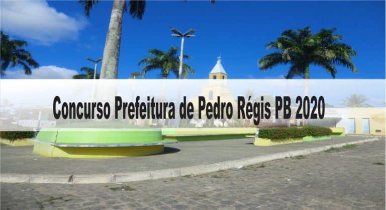 Concurso Prefeitura de Pedro Régis PB 2020: Inscrições encerradas