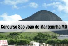 Concurso São João de Manteninha MG