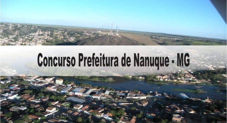 Concurso Prefeitura de Nanuque: Provas dia 20/12/20