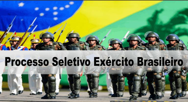 Processo Seletivo Exército Brasileiro 5ª Região Militar: Inscrições encerradas