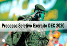 Processo Seletivo Exercito DEC 2020