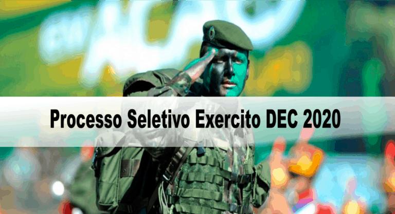 Processo Seletivo Exercito DEC 2020: Inscrições encerradas
