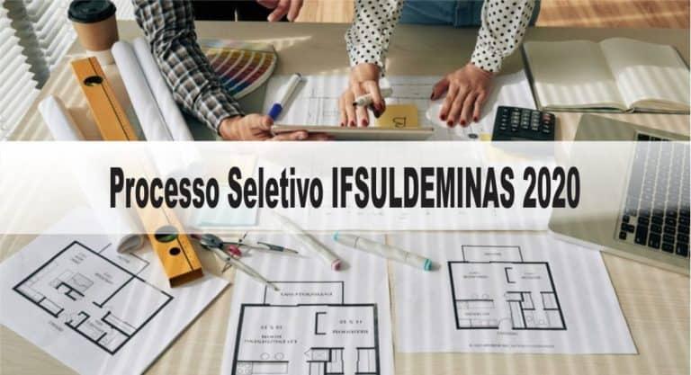 Processo Seletivo IFSULDEMINAS 2020: Inscrições encerradas