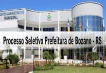 Processo Seletivo Prefeitura de Bozano - RS