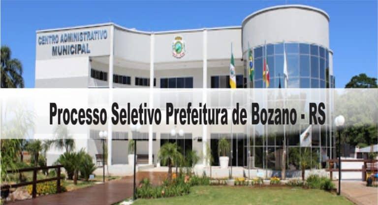 Processo Seletivo Prefeitura de Bozano – RS: Inscrições encerradas