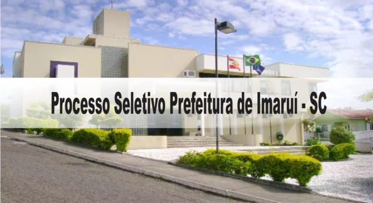 Processo Seletivo Prefeitura de Imaruí – SC: Inscrições encerradas!