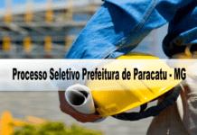 Processo Seletivo Prefeitura de Paracatu - MG